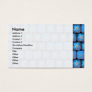 Hibiscus in blue gel business card