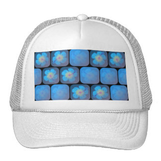 Hibiscus in blue gel trucker hat