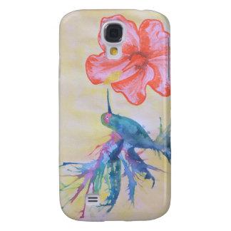 Hibiscus in Grenada Watercolor Samsung PhoneCase Galaxy S4 Case