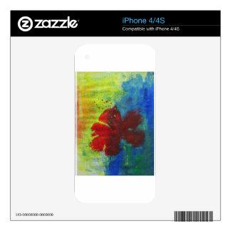 hibiscus iPhone 4 decal