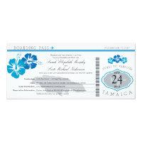 Hibiscus Jamaica Boarding Pass Wedding Card (<em>$2.57</em>)