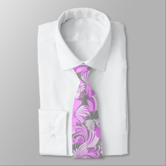 Hibiscus Jungle Floral Hawaiian Two-sided Printed Neck Tie