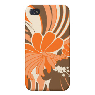 Hibiscus Jungle Hawaiian Cover For iPhone 4