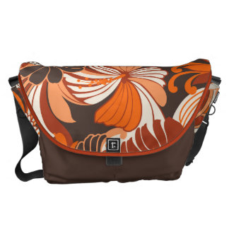 Hibiscus Jungle Hawaiian Large Messenger Bag