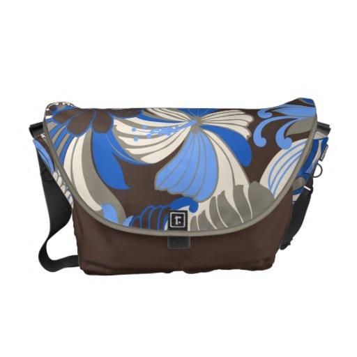 Hibiscus Jungle Hawaiian Medium Messenger Bag