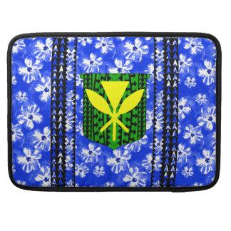 Hibiscus Kanaka Maoli Tribal MacBook Pro Sleeves