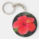 Hibiscus Keyring Keychain