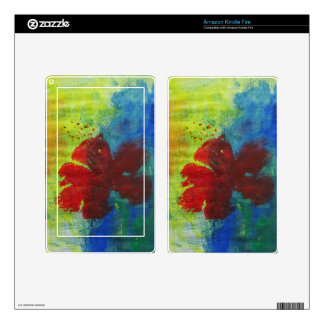 hibiscus kindle fire decals
