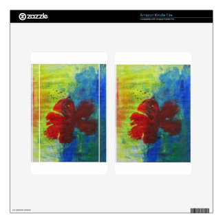 hibiscus kindle fire skins
