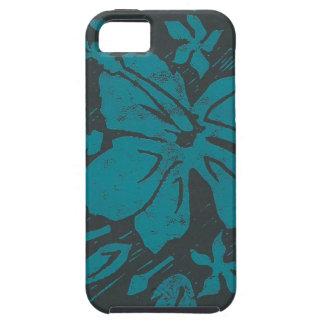 Hibiscus Lino cut print iPhone SE/5/5s Case