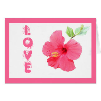 Hibiscus Love Customizable Greeting Card