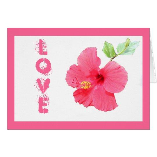 Hibiscus Love Customizable Greeting Card