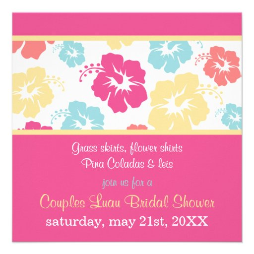 Hibiscus Luau Bridal Shower Invitation from Zazzle.com