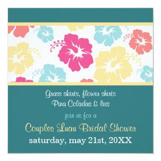 Hibiscus Luau Bridal Shower Invitation