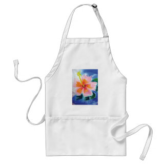 hibiscus,maui,hawaii,pink,flowers adult apron