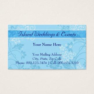hibiscus motif.blue ~ bc business card