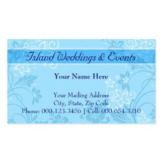 hibiscus motif.blue ~ bc business cards