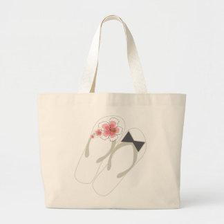 Hibiscus Mr & Mrs Flip Flops Beach Wedding Bag