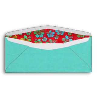 Hibiscus Multicolor Flowers on Red Envelope