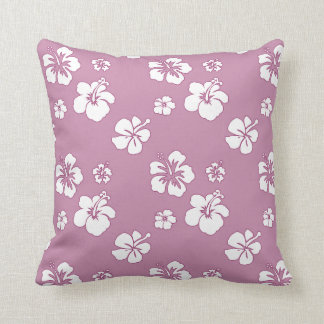 Hibiscus Oleander Pink and White Pillow