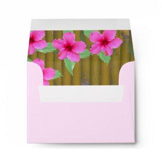 Hibiscus on Bamboo envelope