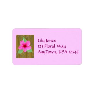 Hibiscus on Bamboo label