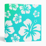 Hibiscus on Blue Green Vinyl Binder