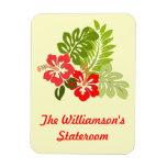 Hibiscus on Yellow Stateroom Door Marker Rectangular Photo Magnet