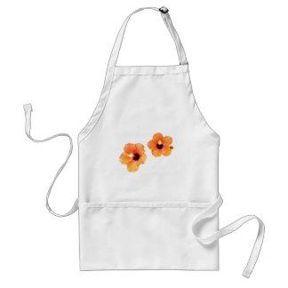 Hibiscus Orange White bg The MUSEUM Zazzle Gifts Adult Apron