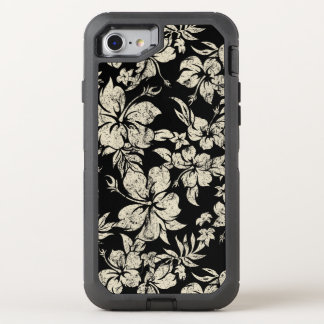 Hibiscus Pareau Distressed Hawaiian OtterBox Defender iPhone 8/7 Case