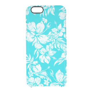 Hibiscus Pareau Hawaiian Floral Aloha Shirt Print Clear iPhone 6/6S Case