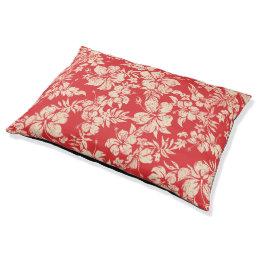 Hibiscus Pareau Hawaiian Floral Aloha Shirt Print Pet Bed