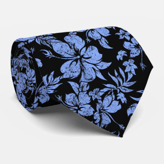 Hibiscus Pareau Hawaiian Floral Two-sided Printed Neck Tie