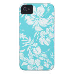 Hibiscus Pareau Hawaiian iPhone 4 Cases