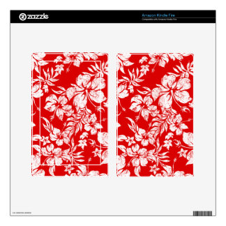 Hibiscus Pareau Hawaiian Kindle or eReader Skin Decals For Kindle Fire