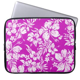 Hibiscus Pareau Hawaiian Neoprene Wetsuit Laptop Sleeve