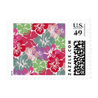 Hibiscus Pattern Postage