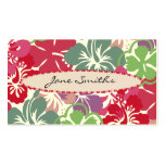Hibiscus Pattern with Surfboard Double-Sided Standard Business Cards (Pack Of 100)