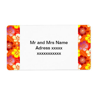 hibiscus patterns label