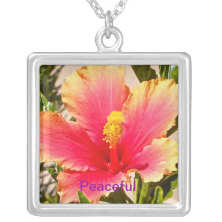 Hibiscus/Peaceful Personalized Necklace
