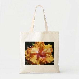 Hibiscus Peach Tote Bag