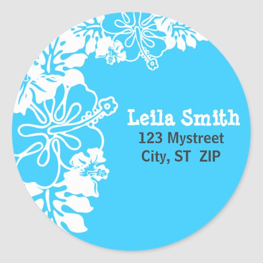 HIBISCUS PERSONALIZED ADDRESS LABEL