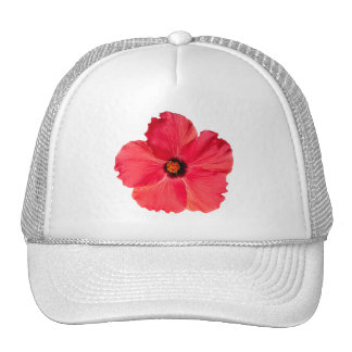 Hibiscus - Personalized Tropical Hot Pink Flower Mesh Hat