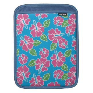 Hibiscus Pink Blue (v) Sleeve For iPads