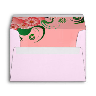 Hibiscus Pink Floral Elegant Custom Envelopes