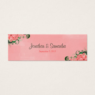 Hibiscus Pink Floral Wedding Favour Favor Tags
