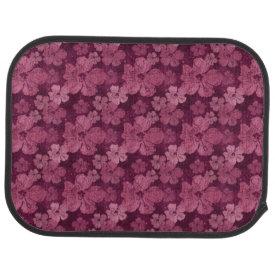 Hibiscus Pink Flowers Batik Car Mat