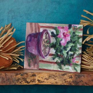 Hibiscus Plaque