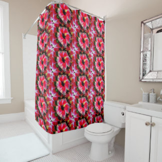 Hibiscus printed Shower Curtain