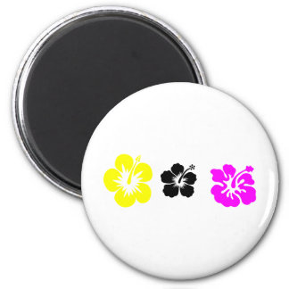 hibiscus purple black and yellow magnet